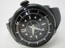 Glam Rock Men's MB26021 Miami Beach Black Dial Black Silicone Watch