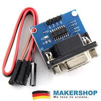 RS232 TTL Adapter + Kabel - MAX3232 3V-5V Serial Port Converter Modul Female DB9