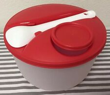 Tupperware Jumbo Salad On The Go Bowl Set w/ Utensils And Snack / Dressing Cup