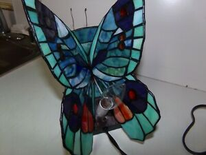 Tiffany Style Butterfly Table Desk Lamp Home Decor Lighting Stained Glass