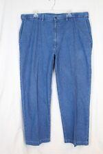 HAGGAR W2W Denim Pants 40 29 Blue Comfort Waist Flat Plain Front Pockets Cotton