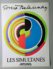 "SONIA DELAUNAY, AFFICHE  ""LES SIMULTANÉS"", ARTCURIAL 1977."