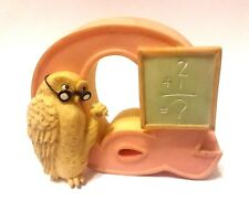 "Walt Disney WINNIE THE POOH Michel OWL 3"" Ceramic ""Q"" Hanging Letter! FREE S/H!"