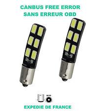 2 AMPOULES LED ALFA ROMEO 147 BAX9S H6W 12 SMD BLANC XENON 6000K CANBUS 12V