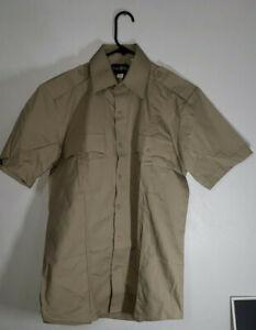 Law Pro Quartermaster Tan / Khaki Uniform Short Sleeve Shirt Medium