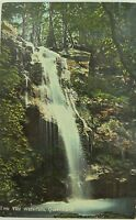 .EMU VALE WATERFALLS , VIA WARWICK QUEENSLAND EARLY 1900'S COLOUR POSTCARD.