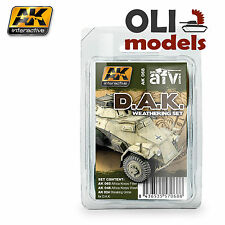 D.A.K. AFRIKA KORPS Tanks Weathering Set 3 x 35 ml - AK Interactive 68