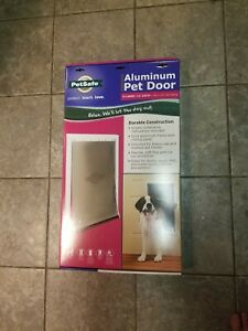 Extra Large PetSafe PPA00-10861 Aluminum Pet Door for Dogs and Cats - White