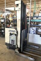 Crown Stand-in Forklift Triple Mast + Side Shift 40R- STT Electric 4000 Lbs
