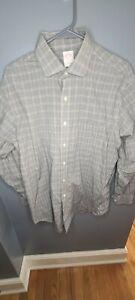 Brooks Brothers Regular Fit Mens 16 1/2-4/5 Dress Shirt Black Checkered Long Slv