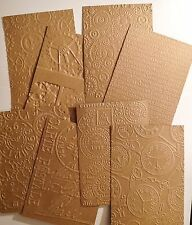 Mixed Pack of Steampunk Embossed Background Panel A6 (Ribbed Kraft)