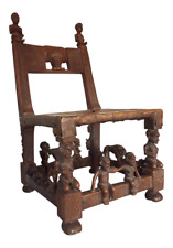 Chokwe Throne Chair, 31in. H (13.5in. H Seat) x 18in. D x 17in. W
