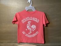 Boys Red Heather Sriracha On Everything Graphic T T-Shirt SIZE SMALL (6-7) NWOT