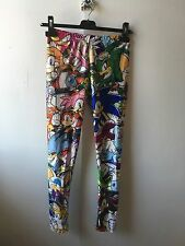 Sonic the Hedgehog Leggings Size S Tails Knuckles Charmy Vector Eggman Amy