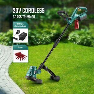 20V Cordless Grass Trimmer Hedge Turf Brush Cutter Edger Snipper Garden Tool