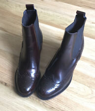 RUSSELL & BROMLEY LADIES CHELSEA BROGUE LEATHER ANKLE BOOTS SZ4/ 37