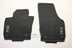 New OEM Genuine Audi Q3 Black Floor Mats Front All Weather Rubber 2013-2018 RSQ3