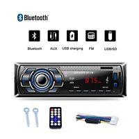 Car Stereo Audio Radio 1 Din MP3 Player Bluetooth In-Dash FM SD TF USB AUX WMA