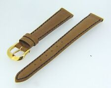 BRAND NEW AUTHENTIC FENDI 13MM LIGHT BROWN GENUINE LEATHER WATCH STRAP H