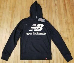 New Balance Essentials Logo Pullover Hoodie Black Lifestyle MT03558 For Men