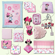 Minnie Mouse 16 Pc. Crib Bedding Set by Disney Baby- Pink Flowers & Butterflies
