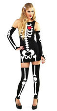 Brand New SEXY SKELETON Halloween Party Outfit Fancy Dress Size S Small 8 - 10
