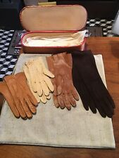 Vintage Ladies Leather Gloves Lot Of Four