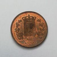 ESSAI 5 CENTIMES LOUIS XVIII 1814-1824