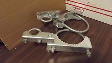 "6 5/8"" Com Grade Pressed Steel AdjustableArm Chain Link Fence Gate Hinge Pair 7"""