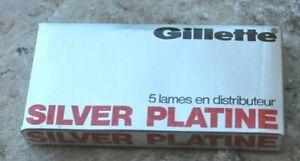 gillette 5 lames en distributeur silver platine sous blister ( rasoir ) vintage