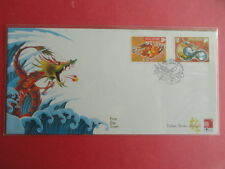2000 FDC Singapore First Day Cover - Zodiac Series Dragon
