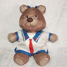 "Potpourri Press Blankies Girl Bear Sailor Dress Bow 13"" Plush Vtg 1987"