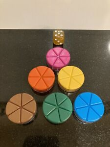 Trivial Pursuit Anniversary Addition Replacment Parts - Pie Wedges And Dice