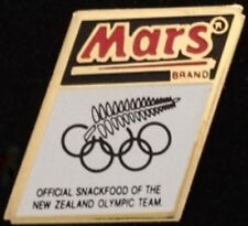 New Zealand Olympic Pin Badge ~ 1992 Barcelona Team ~ Sponsor: Mars