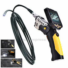 5M Cable 3.5 Video Inspection Camera 8.2mm Borescope Endoscope Zoom Rotate Video