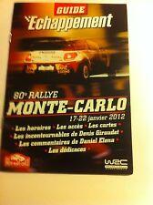PROGRAMME 2012 RALLY MONTE CARLO PROGRAMM WRC RALLYE CP POSTCARD CITROEN LOEB