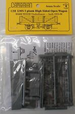 Cambrian C58.LMS 5-Plank High-Sided Open Wagon Kit.(00)