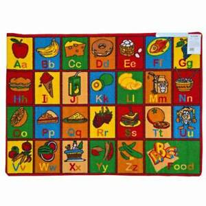 New Children's Rug ABC FRUITS Activity Learning Play Mat 94cm x 133cm