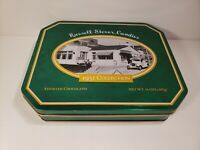 Russell Stover Chocolate Candies 1931 Collection Green Octagon Metal Tin Empty