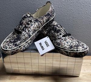 MoMA X Vans Jackson Pollock Authentic Sneakers Shoes Men's SZ 9 New!!