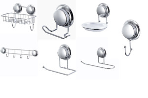 Super Suction Cups No Drilling Bathroom Shower Wall Storage Hooks Accessories UK