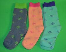 3 pr Women's 56% Merino Wool Snowflake Boot Socks…Nice Color Mix..Sz 7-9