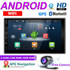 "7""Android Double DIN FM/AM Player Car Stereo Universal Radio SAT NAV WiFi DAB+BT"