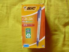Stylo bille BIC rétractable Ecolution Clic Stic lot de 50 - Noir