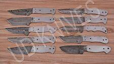 LOT OF 10 | CUSTOM HANDMADE DAMASCUS STEEL HUNTING KNIFE | BLANK BLADE FG-8994