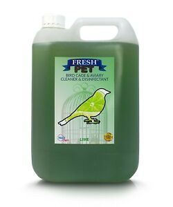 Bird Specialist Cage Disinfectant Cleaner Kills 99.99% Germs 5L Lime Fresh Pet