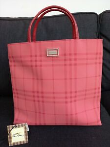 Burberry Pink Nova Check Tote Bag