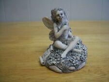 Mystical Fairy Sitting Woods Figurine Statue Sculpture Art Black Ivory Cerrini ?