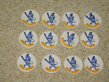 "VINTAGE LOT OF 12 MILWAUKEE BREWERS MLB BASEBALL 2"" PATCHES"