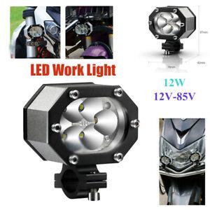 6500K 6 LED Work Light Flood Spot Beam Offroad SUV Driving Fog Lamp  12W 12-85V